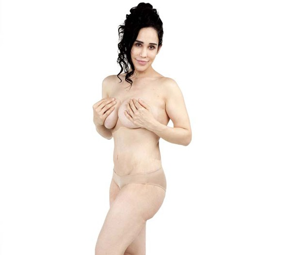 Octomum Nadya Suleman poses topless