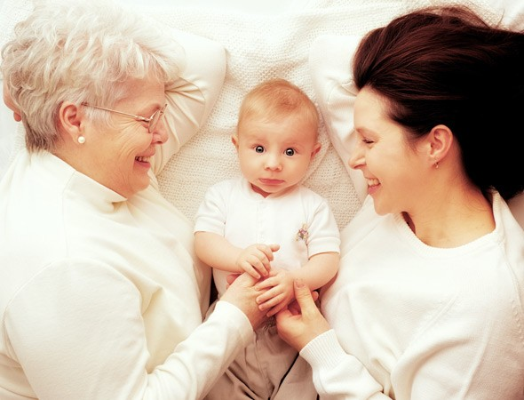 baby, mother and grandmother