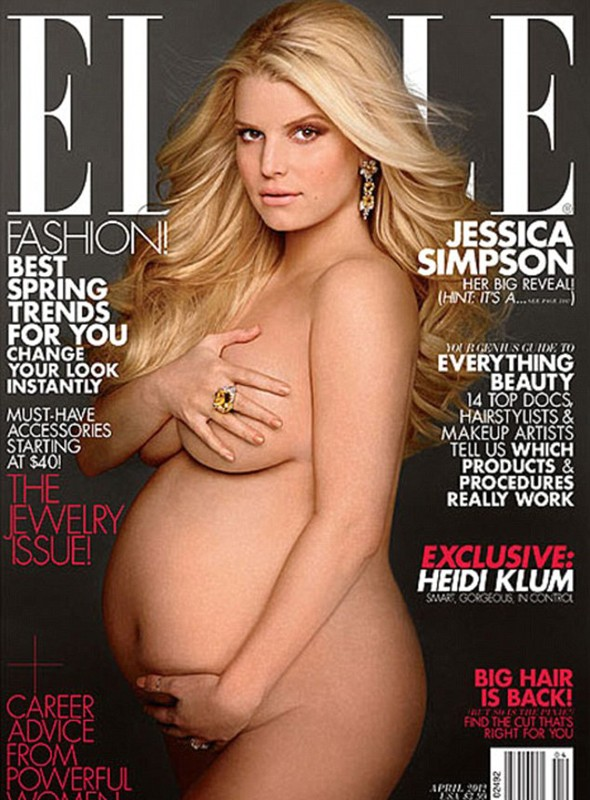 Pregnant Jessica Simpson does a Demi and poses nude...as she reveals she's expecting a girl!