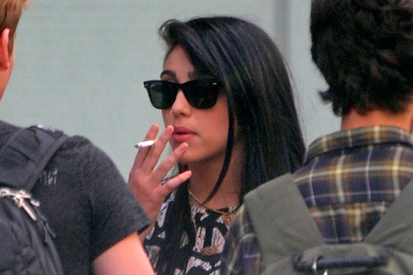 Madonna's daughter Lourdes Leon snapped smoking - at 15