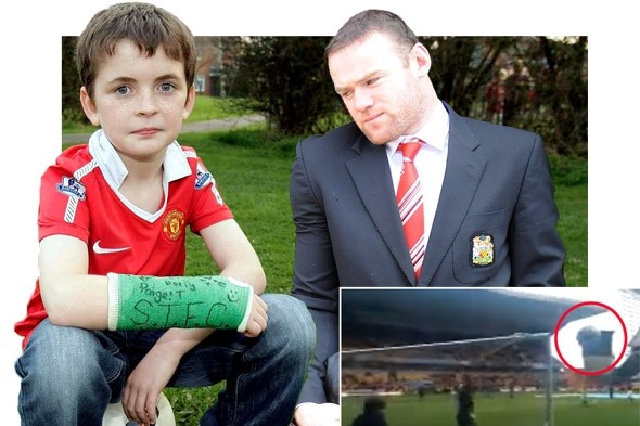 Wayne Rooney apologises on Twitter for breaking youngster's arm