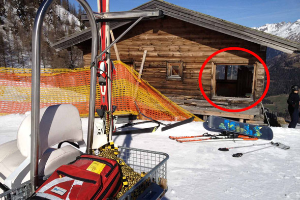 British girl in horrific Austrian ski accident: The chalet she crashed through