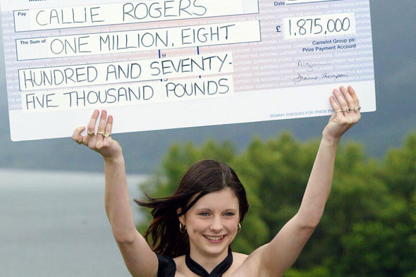 Callie rogers won lotto at 16, but nine years on, says being penniless and pregnat is better than win ar-old Lotto winner who blew fortune on drugs and boob job