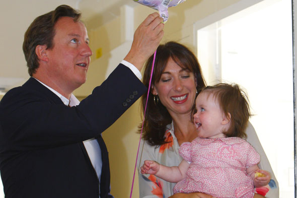 David Cameron, wife Samantha and daughter Florence