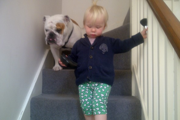 Toddler on stairs