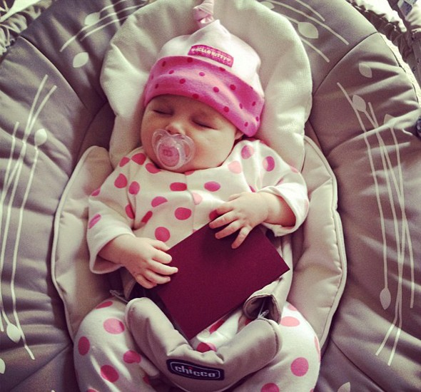 Have baby, will travel: Una Healy shows off baby Aoife's first passport