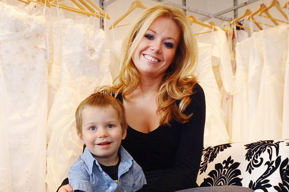 Apprentice star Laura Hogg and son Reece