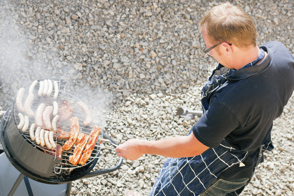 Man doing a barbeque