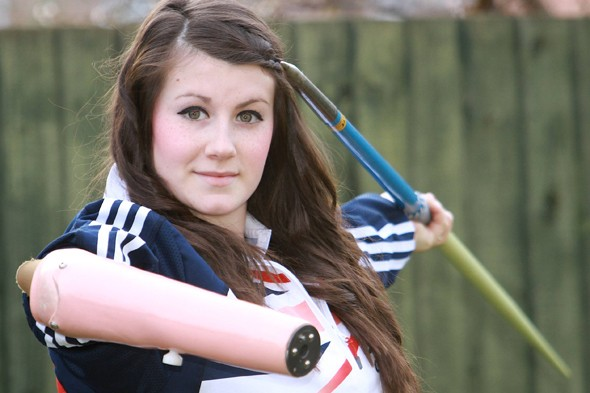 Teenager born with one arm to compete in javelin throwing 2012 Paralympics