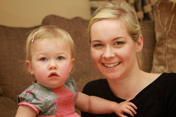 Baby survives being strangled by rare tumour growing on her neck