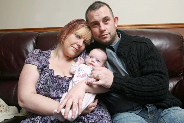 Baby joy for mum who suffered 14 miscarriages, a stillbirth and the death of her two-week-old son