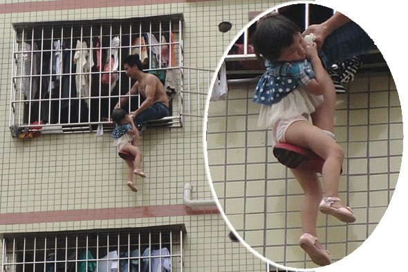 Man dangles daughter, three, out of sixth-floor window during argument with her mother