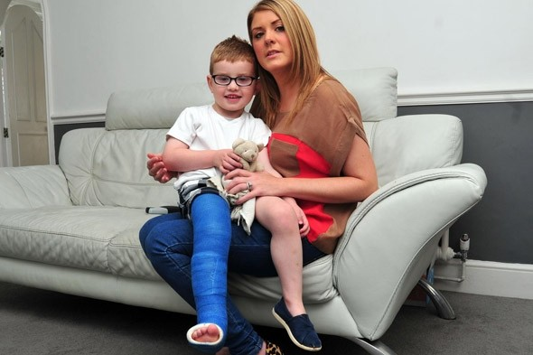 Docs said two year-old's broken leg was 'psychological' - and sent him home