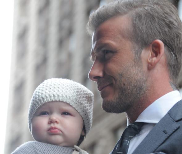 David Beckham and daughter Harper