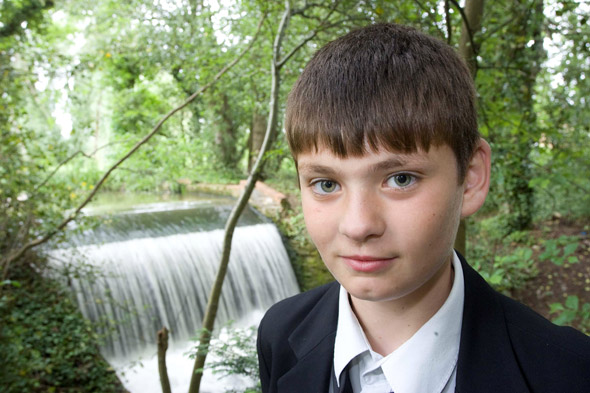Hero Luke, 12, dives into swollen river to rescue six year-old girl