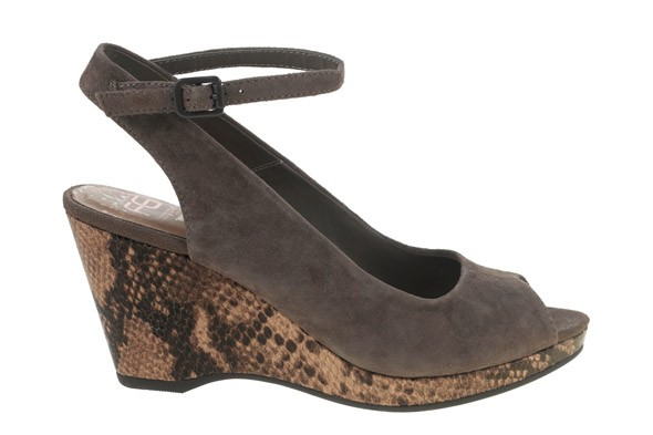 Footglove Suede Snakeskin Wedge from Marks and Spencer