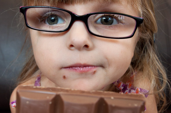 Chocolate and crisps are off the menu for five year-old Lola - because they could kill her