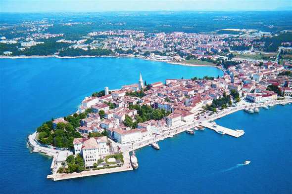 Porec on the coast