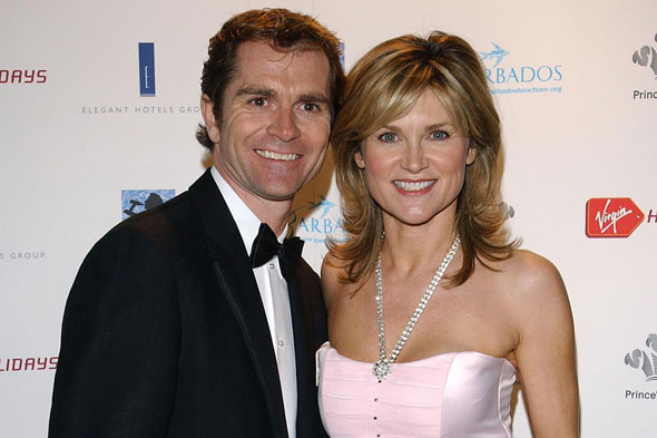 Anthea Turner's stepdaughters stick by her as their dad is accused of having an affair