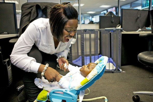 Bring baby to the office? You must be bonkers
