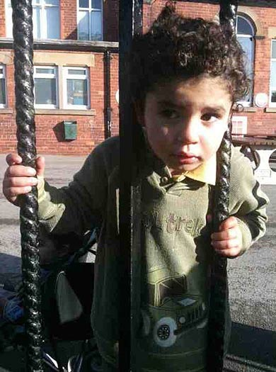 Three-year-old freed by firefighters after his head was wedged in railings