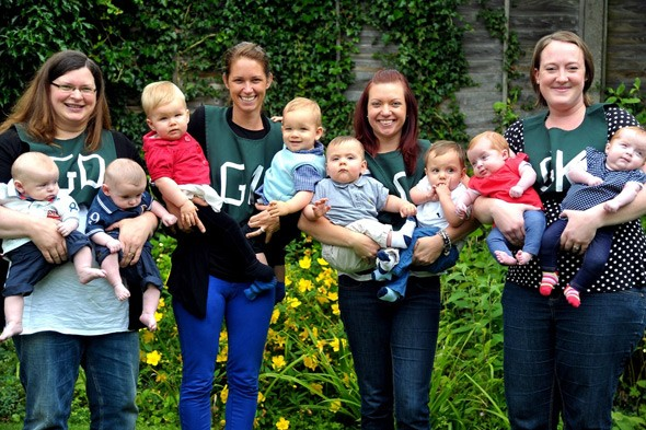 Netball team nets FOUR sets of twins in ONE year
