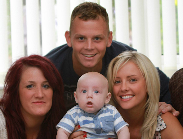 Family values: Woman born without a womb becomes a mum thanks to cousin surrogate