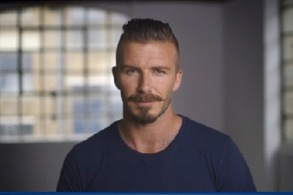 Play blind football and win signed david beckham t shirts for David beckham t shirt brand