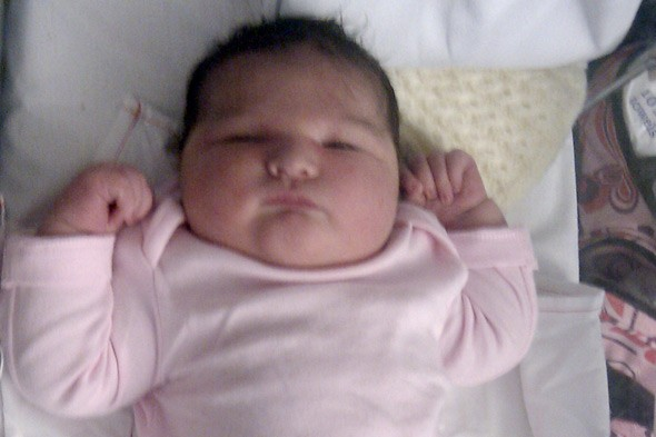 Britain's heaviest baby girl is born weighing 14lbs, 14oz