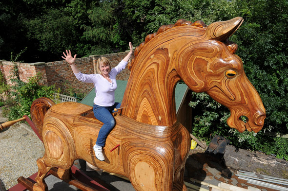 Meet Bigger Bertie - the UK's biggest rocking horse