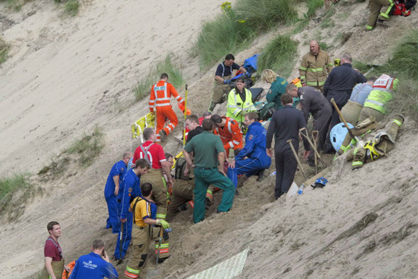 Boy survives being buried alive in sand at Northumberland beach