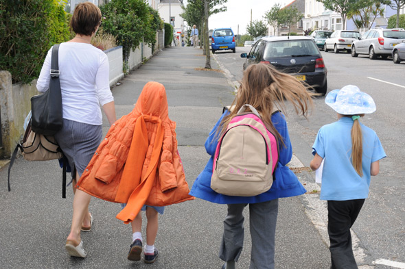 Walking to school: One in three children driven to school live less than a mile away