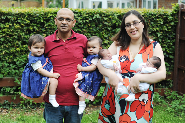 Mum has two sets of twins in a year - after fearing she would NEVER conceive