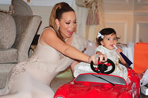 Mariah Carey's twins get mini Ferrari for their first birthday