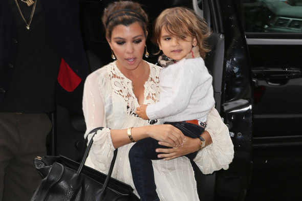 Kourtney Kardashian gets a petting zoo for Mason's first birthday
