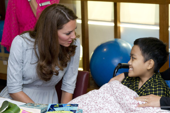 Duchess of Cambridge brings a smile to the face of terminally ill teenager