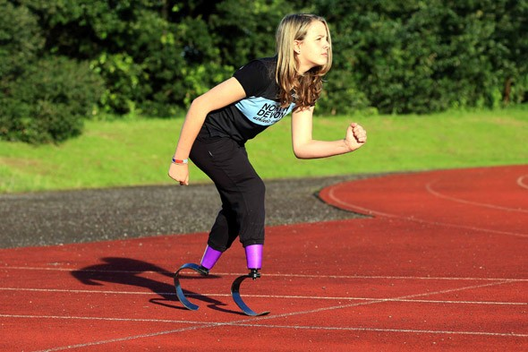 Schoolgirl who lost her legs to meningitis aims to be Team GB's next blade-runner star