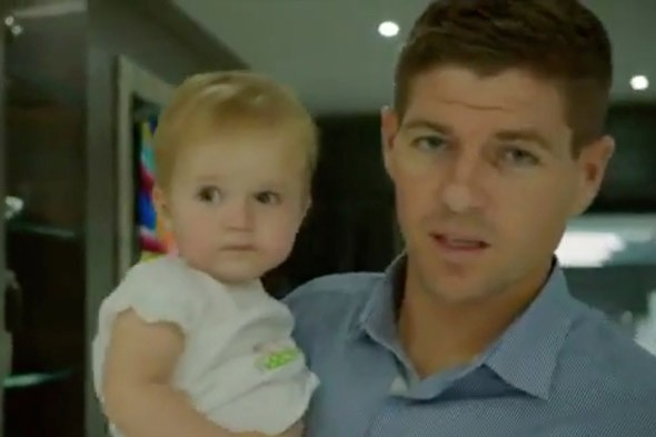 Alex and Steven Gerrard give TV viewers a glimpse of family life