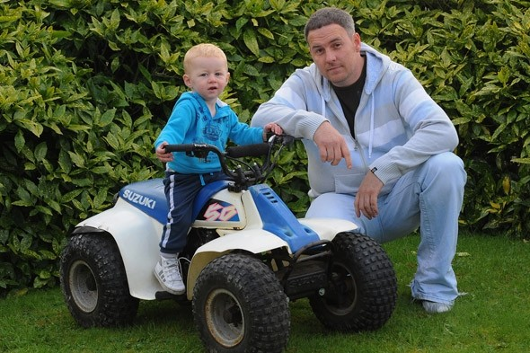 ASBO and penalty points for dad who gave toddler son a ride on his quad bike