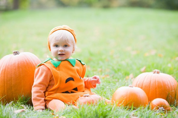 Dressing babies as Halloween pumpkins and baby spiders is bad for them, says charity