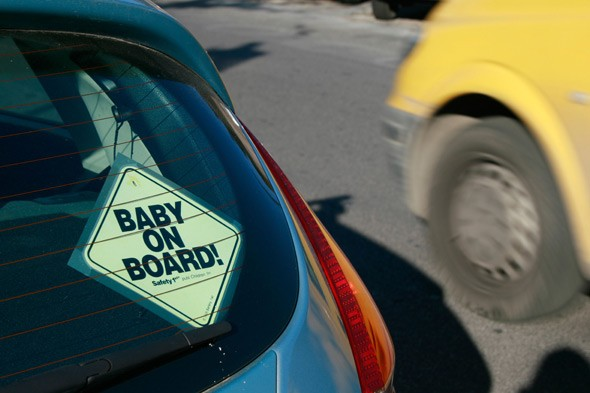 Boastful car stickers - are you having a laugh?