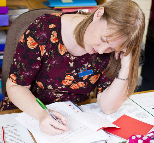 Teacher can't tell off her students in case she falls asleep!