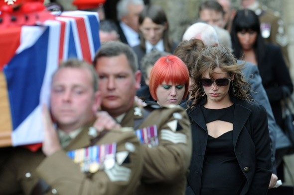 Poignant humour of soldier's last message at his funeral: 'Whoops, that wasn't supposed to happen!'