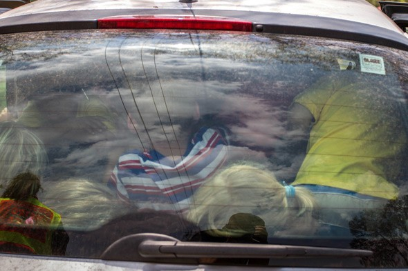Nursery teacher caught with 19 children in her tiny Renault Clio (including six in the boot!)