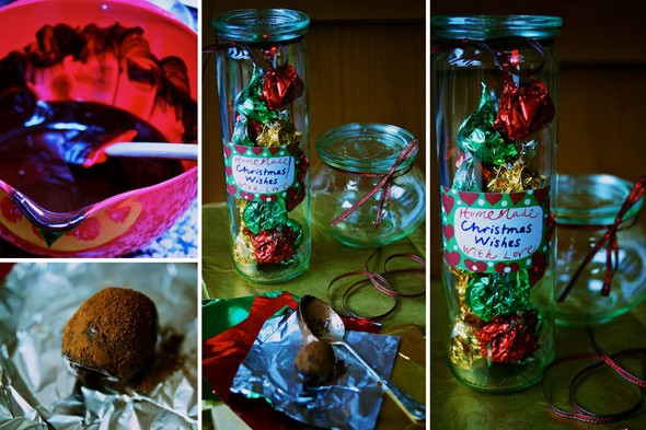 Homemade chocolate truffles, an easy and delicious Christmas present