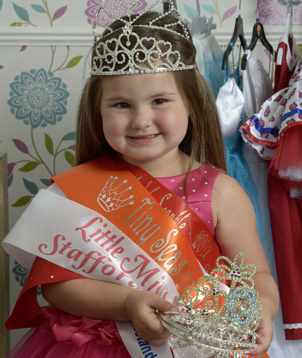 Pageant girl, 4, competes in bespoke dresses worth £200 - and she only wears them once!