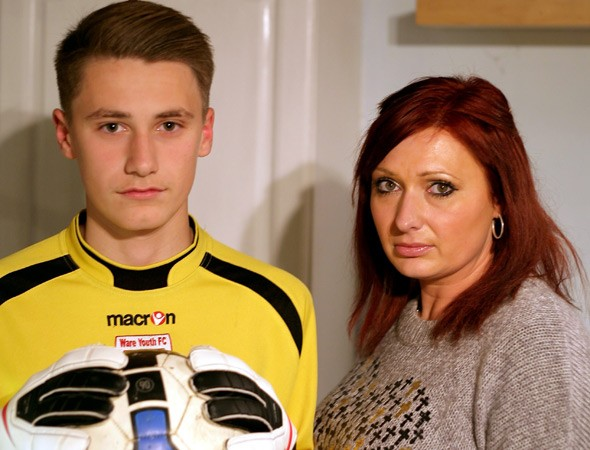 Teenage footballer with Tourette's banned...for swearing at the referee