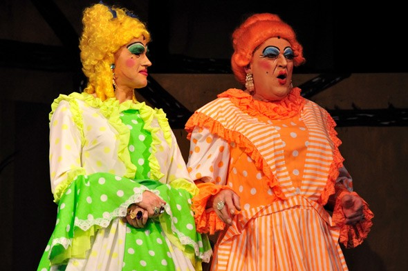 The ugly sisters in Cinderella pantomine