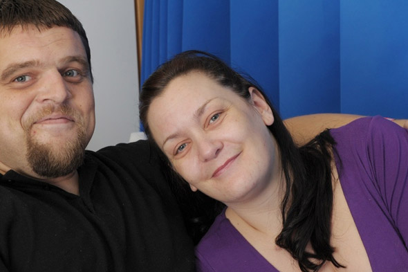 Mum gives birth in hospital bed next to husband after seeing him after car crash causes premature labour
