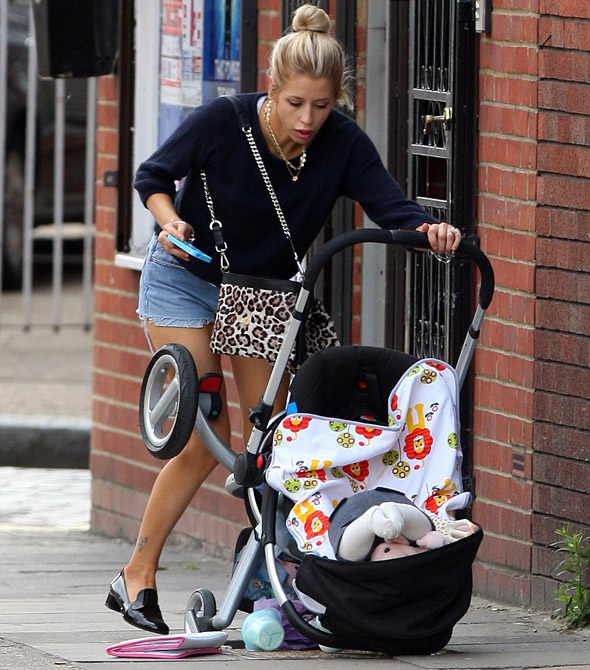 Peaches Geldof's horror as Astala's buggy falls down a pothole!